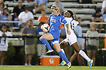 06 September 2013: UCLA's Jenna Richmond (7) and North Carolina's Crystal Dunn (19). The University of North Carolina Tar Heels played the University of California Los Angeles Bruins at Koskinen Stadium in Durham, NC in a 2013 NCAA Division I Women's Soccer match. UNC won the game 1-0.