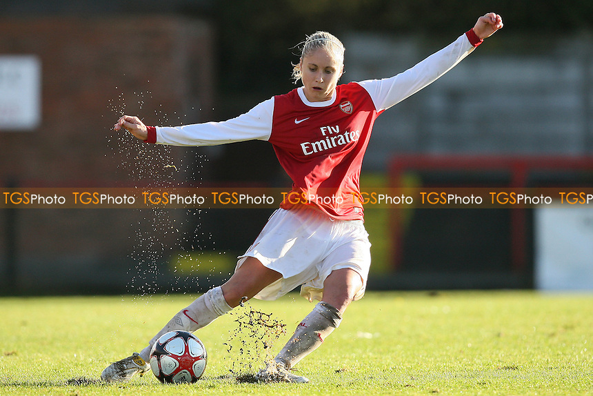Steph Houghton in action for Arsenal - Arsenal Ladies vs Rayo Vallecano - UEFA Womens Champions League Round of 16, 2nd Leg at Boreham Wood FC - 11/11/10 - MANDATORY CREDIT: Gavin Ellis/TGSPHOTO - Self billing applies where appropriate - Tel: 0845 094 6026
