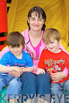 FUN TIMES: Aodhan, Michelle and Eanna Murray, Camp having fun at the Camp Family Fun Day on Sunday..