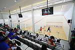 General view, <br /> AUGUST 23, 2018 - Squash : <br /> Women's Singles Round of 32 <br /> at Gelora Bung Karno Squash Stadium <br /> during the 2018 Jakarta Palembang Asian Games <br /> in Jakarta, Indonesia. <br /> (Photo by Naoki Nishimura/AFLO SPORT)