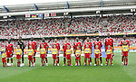 15 June 2006: Trinidad and Tobago's starters line up before the game. England defeated Trinidad and Tobago 2-0 at the Frankenstadion in Nuremberg, Germany in match 19, a Group B first round game, of the 2006 FIFA World Cup.
