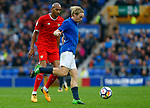 Everton's Tom Davies in action with Sevilla's Steven N'Zonzi during the pre season friendly match at Goodison Park Stadium, Liverpool. Picture date 6th August 2017. Picture credit should read: Paul Thomas/Sportimage
