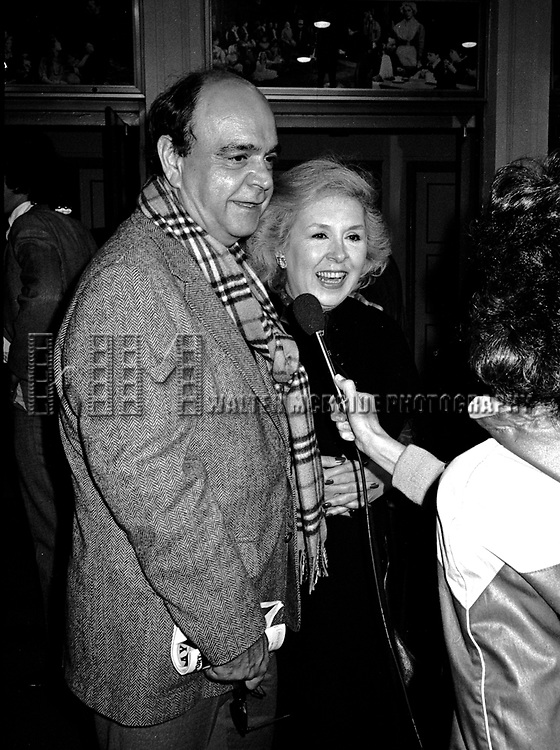 James Coco and Doris Roberts attending a Broadway Show together,New York City on October 1, 1981