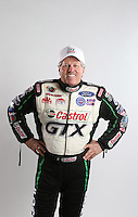 Feb. 22, 2013; Chandler, AZ, USA; NHRA funny car driver John Force poses a portrait during qualifying for the Arizona Nationals at Firebird International Raceway. Mandatory Credit: Mark J. Rebilas-