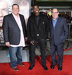 Billy Gardell, Reno Wilson and Louis Mustillo at the World Premiere of Identity Thief, held at the Mann Village Theater in Westwood CA. February 4, 2013.