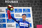 Niki Terpstra (NED) Quick-Step floors finishes in 3rd place in the Roubaix Velodrome at the end of the 116th edition of Paris-Roubaix 2018. 8th April 2018.<br /> Picture: ASO/Pauline Ballet | Cyclefile<br /> <br /> <br /> All photos usage must carry mandatory copyright credit (&copy; Cyclefile | ASO/Pauline Ballet)