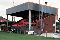 Main stand at Diss Town FC Football Ground, Brewers Green Lane, Diss, Norfolk, pictured on 1st November 1996