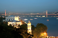 Istanbul: the Bosphorus Bridge and the Dolmabahce Palace