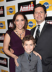 Andrea Burns, Peter Flynn & son attending the Broadway Opening Night Performance of 'Annie' at the Palace Theatre in New York City on 11/08/2012