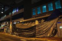 SÃO PAULO,SP,18 FEVEREIRO 2013 -  CHUVA ZONA LESTE  -Parte da frente do Hospital São Cristovão na Rua Terrenas na Mooca caiu com a forte chuva que atingiu a capital na tarde de hoje .FOTO ALE VIANNA - BRAZIL PHOTO PRESS.