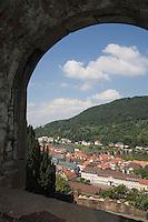 Europe/Allemagne/Bade-Würrtemberg/Heidelberg: vue sur la ville et la vallée du Neckar depuis le Chateau