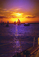 Sailboats Beautiful Sunset, Please notify me for larger file size