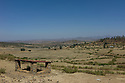 25/01/12. Axum, Ethiopia. View towards Eritrea from King Kaleb's castle and tomb. Photo credit: Jane Hobson
