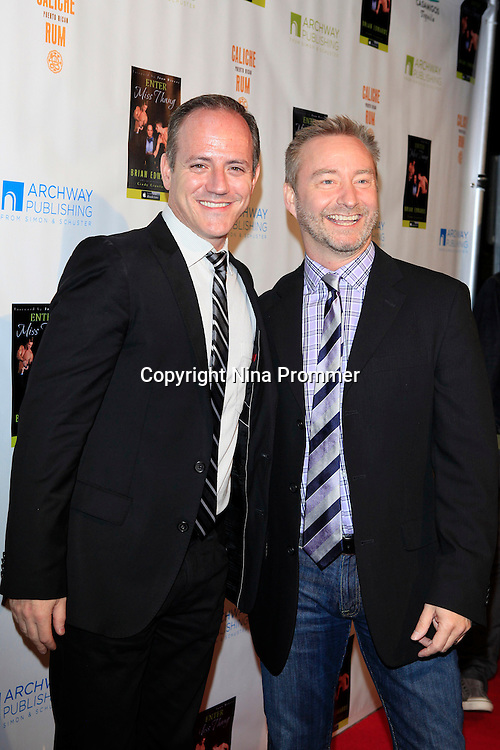 "MALIBU - OCT 21: Michael Caprio, Randy Slovacek at the ""Enter Miss Thang"" Book Launch Party at Cafe Habana on October 21, 2013 in Malibu, California"