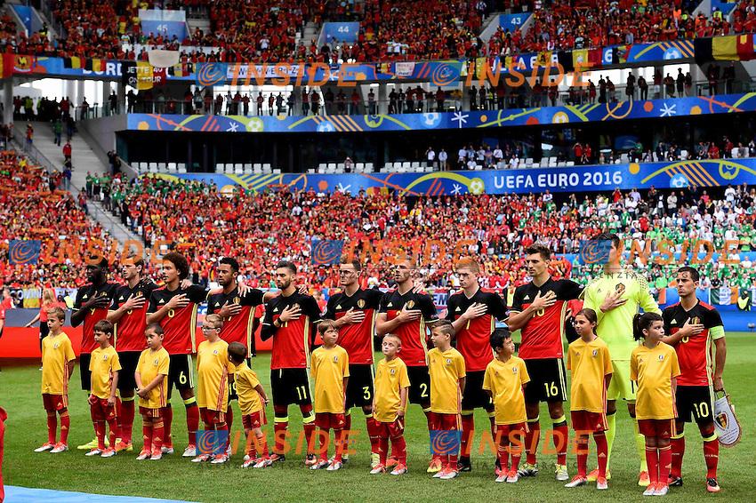 Team of Belgium  <br /> Bordeaux 18-06-2016 Stade de Bordeaux Football Euro2016 Belgium - Ireland / Belgio - Irlanda Group Stage Group E. Foto Vincent Kalut / Photonews / Panoramic / Insidefoto