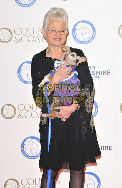 Dame Jacqueline Wilson attends the Collars &amp; Coats Gala Ball 2015, Battersea Evolution, Battersea Park, London, England, UK, on Thursday 12 November 2015. <br /> CAP/CAN<br /> &copy;CAN/Capital Pictures