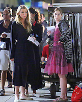 "Blake Lively & Leighton Meester on the set of "" Gossip Girl "" - New York"