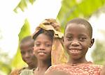 Children in Kibande Village in Karongi District, Western Rwanda.