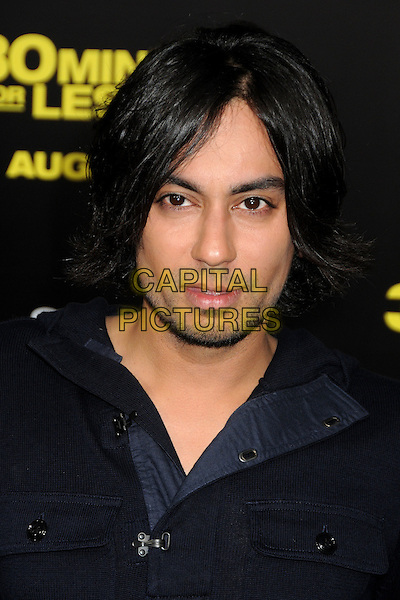 "Vik Sahay.""30 Minutes or Less"" World Premiere held at Grauman's Chinese Theatre, Hollywood, California, USA..August 8th, 2011.headshot portrait black stubble facial hair .CAP/ADM/BP.©Byron Purvis/AdMedia/Capital Pictures."