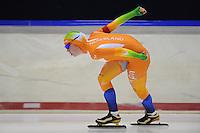 SCHAATSEN: HEERENVEEN: 05-10-2013, IJsstadion Thialf, Trainingwedstrijd, 3000m, Antoinette de Jong, ©foto Martin de Jong