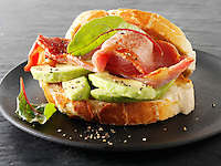 Bacon and avacado sandwich