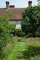 Great Dixter, mid July. Looking towards the Lutyens steps and ancient mulberry tree.
