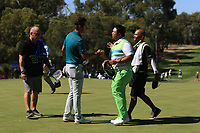 Lucas Herbert (AUS) and Kiradech Aphibarnrat (THA) in action on the 6th during the Matchplay Semi-Final of the ISPS Handa World Super 6 Perth at Lake Karrinyup Country Club on the Sunday 11th February 2018.<br /> Picture:  Thos Caffrey / www.golffile.ie<br /> <br /> All photo usage must carry mandatory copyright credit (&copy; Golffile | Thos Caffrey)