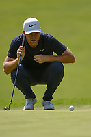 Lucas Bjerregaard (DEN) looks over his putt on 12 during round 4 of the World Golf Championships, Mexico, Club De Golf Chapultepec, Mexico City, Mexico. 2/24/2019.<br /> Picture: Golffile | Ken Murray<br /> <br /> <br /> All photo usage must carry mandatory copyright credit (© Golffile | Ken Murray)