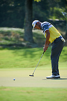 Hideki Matsuyama (JPN) barely misses his par putt on 1 during round 4 of the WGC FedEx St. Jude Invitational, TPC Southwind, Memphis, Tennessee, USA. 7/28/2019.<br /> Picture Ken Murray / Golffile.ie<br /> <br /> All photo usage must carry mandatory copyright credit (© Golffile | Ken Murray)