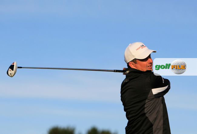 Peter Lawrie (IRL) on the 2nd tee during Round 1 of the 2015 KLM Open at the Kennemer Golf &amp; Country Club in The Netherlands on 10/09/15.<br /> Picture: Thos Caffrey | Golffile