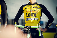 Team LottoNL-Jumbo on stage during the morning team presentations<br /> <br /> 101th Ronde Van Vlaanderen 2017 (1.UWT)<br /> 1day race: Antwerp › Oudenaarde - BEL (260km)