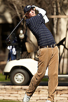 SAN ANTONIO, TX - FEBRUARY 13, 2012: The University of Tulsa Golden Hurricanes Men's Golf team competes at the UTSA Oak Hill Invitational at Oak Hills Country Club. (Photo by Jeff Huehn)