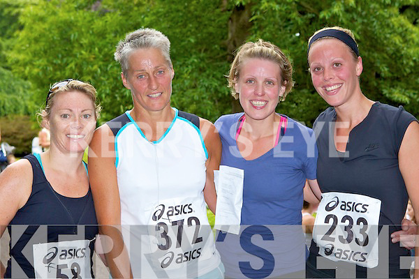 Olivia Fitzgerald Killarney, Katy Shaw Caragh Lake, Anna and Michelle Hoare Killorglin who participated in the Killarney Women's mini marathon on Saturday.