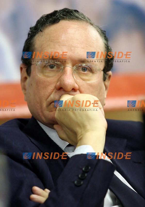 Roma 19-04-2006 Direzione Nazionale della Rosa nel Pugno<br /> Nella foto Ugo Intini<br /> Photo Serena Cremaschi Insidefoto