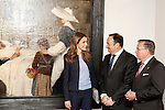 Princess Letizia of Spain with the President of La Rioja Pedro Sanz (2r) visit the villages of Haro and San Millan de la Cogolla.May 14,2013. (ALTERPHOTOS/Acero)