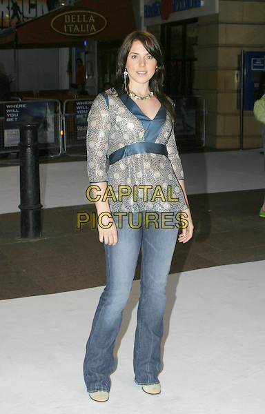 """MELANIE C.Premiere of """"The Day After Tomorrow"""", London,.26th May 2004..full length full-length chinese style top jeans.www.capitalpictures.com.sales@capitalpictures.com.©Capital Pictures"""