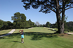 Girl golfing at De Laveaga Golf Course