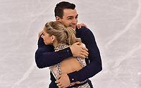 USA's Alexa Scimeca Knierim and Chris Knierim give a figure skating pair performance in the Gangneung Ice Arena at the Winter Olympics in Pyeongchang, South Korea, 9 February 2018. Photo: Peter Kneffel/dpa /MediaPunch ***FOR USA ONLY***