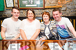 Denis Cosgrove, Geraldine Sheehy, Breeda O'Regan, Kieran O'Regan enjoying the Table Quiz in aid of Classic FC in the Greyhound Bar on Friday