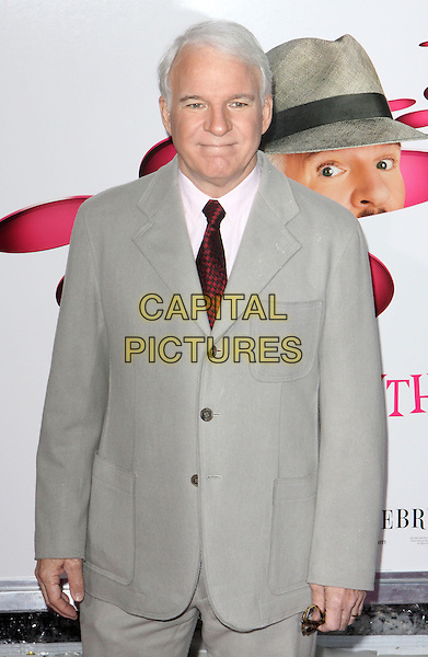 "STEVE MARTIN .""The Pink Panther 2"" World Premiere held at the Ziegfeld Theater, New York, NY, USA..February 3rd, 2009.half length grey gray suit jacket.CAP/ADM/PZ.©Paul Zimmerman/AdMedia/Capital Pictures."