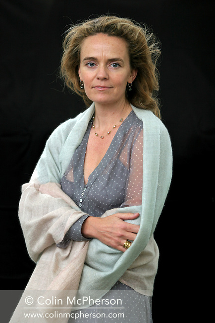 British writer Justine Hardy is pictured at the Edinburgh International Book Festival prior talking about her new novel set in Kashmir. The Edinburgh International Book Festival is the world's largest literary event, with over 500 authors from across the world participating each year and ran from 13-29 August. Edinburgh was named the world's first UNESCO City of Literature in 2004.