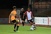 3rd October 2017, The Abbey Stadium, Cambridge, England; Football League Trophy Group stage, Cambridge United versus Southampton U21; Tyreke Johnson of Southampton takes on Leon Davies of Cambridge United