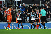 Ayoze Perez of Newcastle United celebrates scoring the opening goal of the game during Newcastle United vs Luton Town, Emirates FA Cup Football at St. James' Park on 6th January 2018