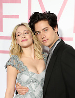 LOS ANGELES, CA - MARCH 7: Lili Reinhart, Cole Sprouse, at The Premiere Of Lionsgate's &quot;Five Feet Apart&quot; at The Fox Bruin Theatre in Los Angeles, California on March 7, 2019. <br /> CAP/MPI/SAD<br /> &copy;SAD/MPI/Capital Pictures