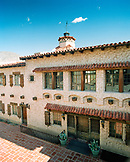 USA, California, exterior of Scotty's Castle, Death Valley National Park