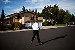 Democratic congressional challenger Eric Swalwell campaigns door-to-door in Pleasanton, Calif., September 21, 2012.