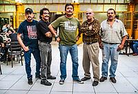 Grupo Nibeel 70 in the Mexican club Obregon canteen in Hermosillo, Sonora, Mexico. Music group covers nightlife in the Sonoran capital.<br />  (Photo:  LuisGutierrez/NortePhoto.com)<br /> Grupo nibeel 70 en la cantina mexicana Club Obregon en Hermosillo, Sonora, Mexico. Grupo de musica covers de la vida nocturna en la capital sonorense. <br />  (Photo:  LuisGutierrez/NortePhoto.com)