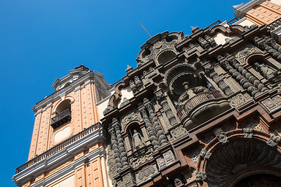 View of Church La Merced in the Lima Historic Centre in Peru