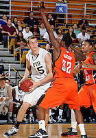 Florida International University center Gilles Dierickx (15) plays against Bowling Green State University, which won the game 61-53 on December 22, 2011 at Miami, Florida. .