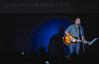 "LAURA FONG | Bruce Springsteen played six songs to a crowd of 3,000 in Parma Thursday. His set included a folky campaign song he made up for Barack Obama with a chorus of ""Forward and away we go...""."